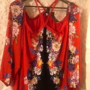 Plus size off the shoulder blouse